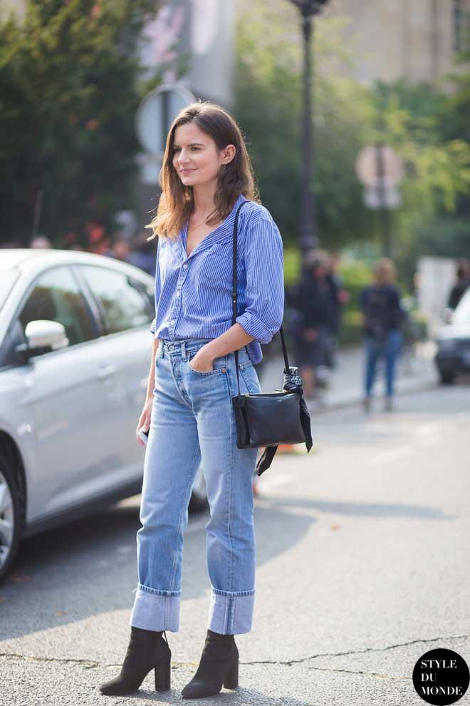 З чим носити джинси восени  «теплі» ідеї  a0596e3d60534